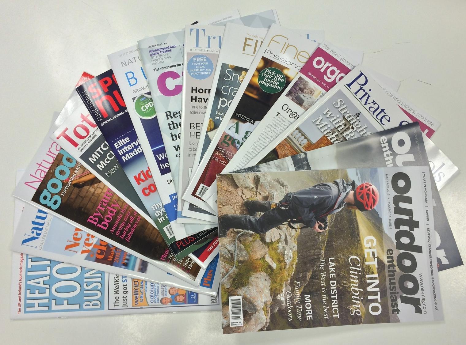 Target Publishing magazine portfolio