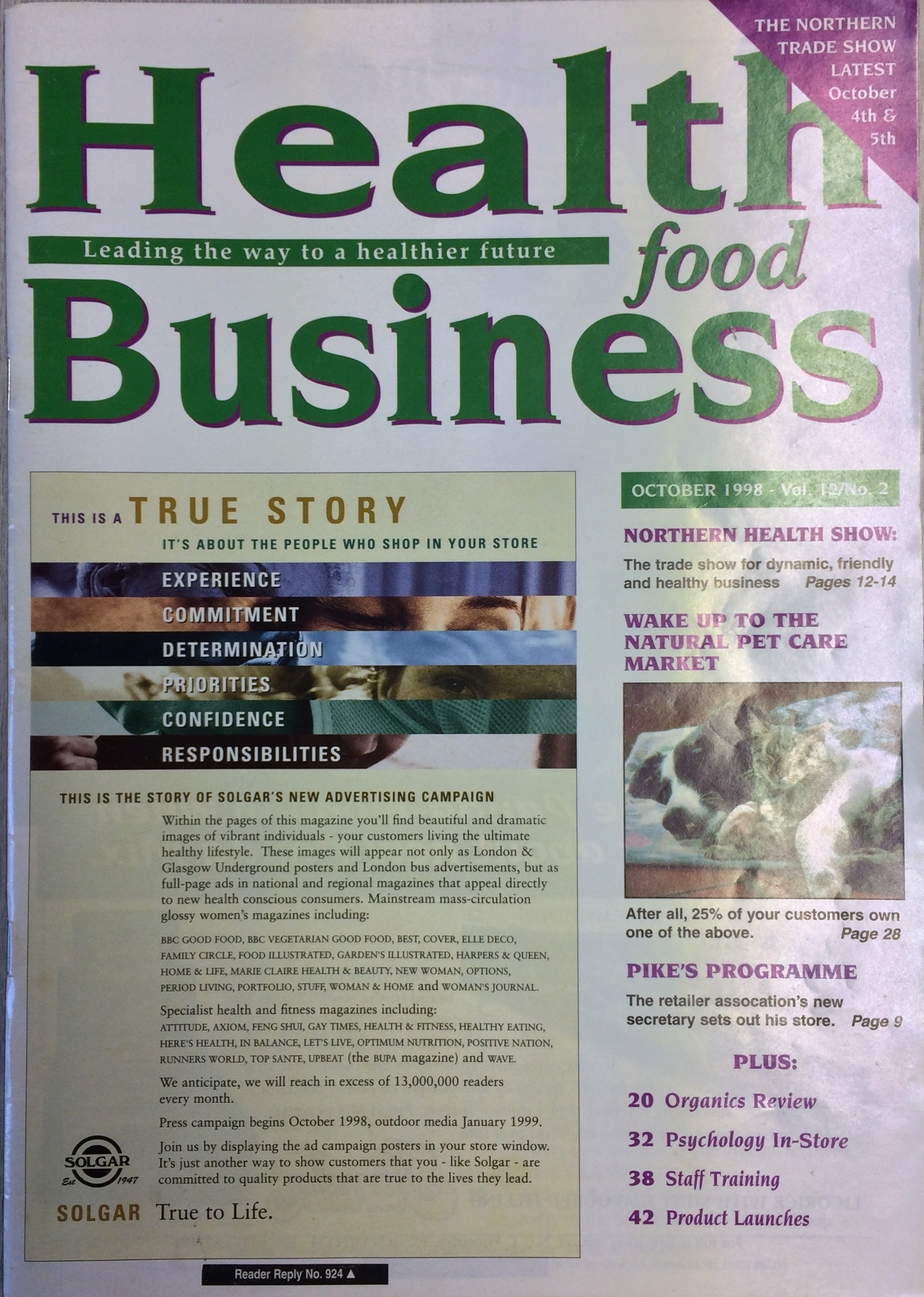Health Food Business cover 1998